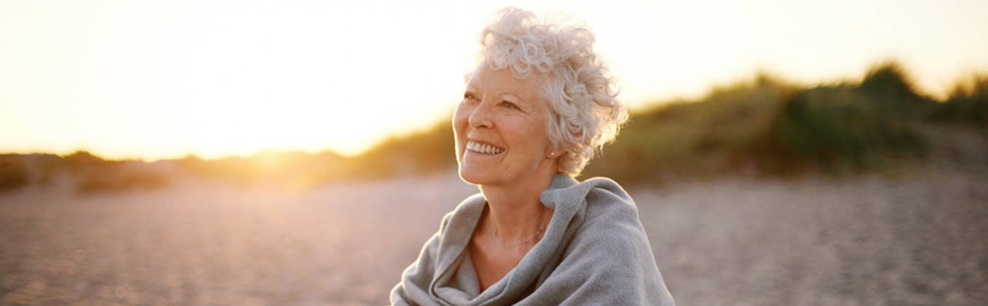 Smiling Older Woman After Restorative Dental Care from Jefferson Dental Care GA